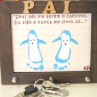 "PORTA CHAVES ""PAI"" CRU"